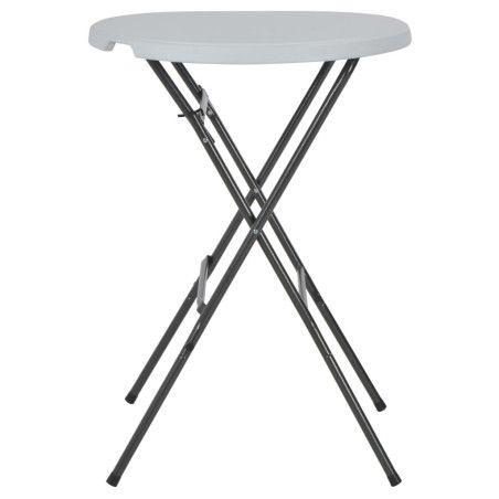 Kokoontaitettava baaripöytä valkoinen 80x110 cm HDPE