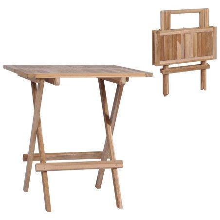 Kokoontaittuva bistropöytä 60x60x65 cm tiikki