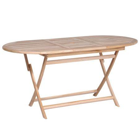 Kokoontaitettava puutarhapöytä 160x80x75 cm tiikki