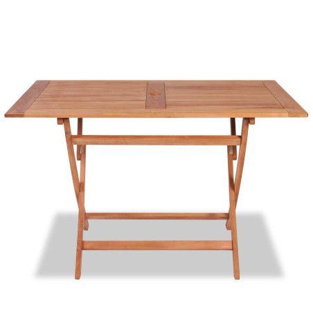 Kokoontaittuva puutarhapöytä 120x70x75 cm tiikki