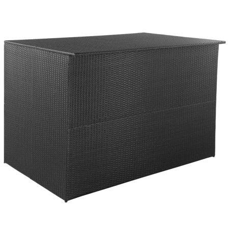 Ulkosäilytyslaatikko musta 150x100x100 cm polyrottinki