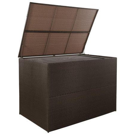 Ulkosäilytyslaatikko ruskea 150x100x100 cm polyrottinki