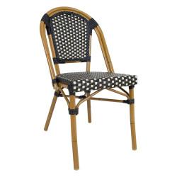 Tuoli, BAMBUS, musta / beige