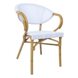 Tuoli, BAMBUS, valkoinen