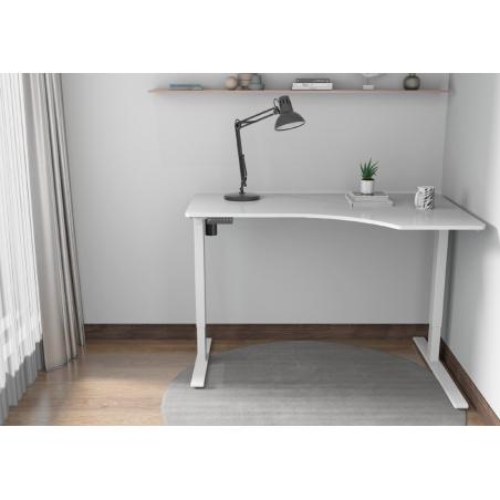 Kulmasähköpöytä 140 x 80cm, valkoinen