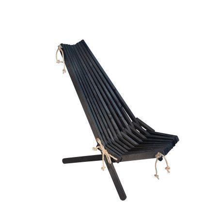 Puutarhatuoli EcoFurn Ekotuoli Tervaleppä Musta