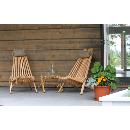 Puutarhatuoli EcoFurn Ekotuoli Mänty Musta