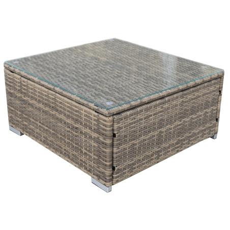 ELLEN5 polyrottinki kahvipöytä 72x68x33, Ruskea