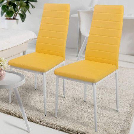 Ruokapöydän tuolit Keinonahka, 2 kpl Useita eri värejä