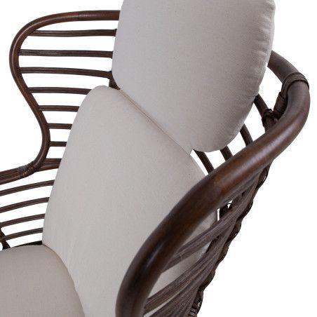 Nojatuoli RETIRO rahilla, ruskea