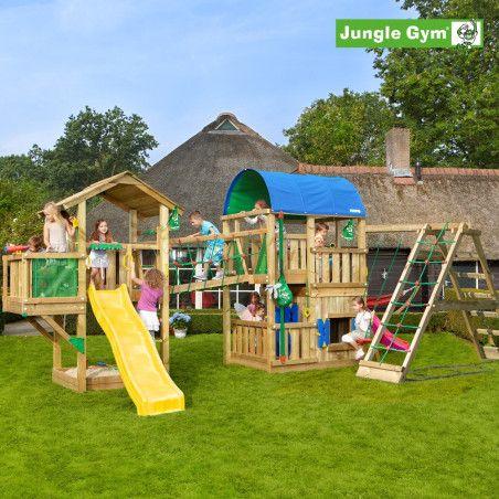 Jungle Gym Leikkiuniversumi 5, kokonaisuus sisältäen liukumäet