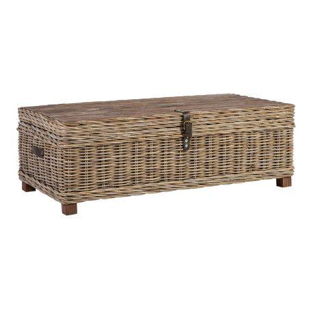 Arkku-sohvapöytä EGROS, vaalea