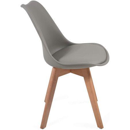 Ruokapöydän tuolit pehmusteella, 6kpl Harmaa