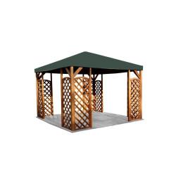 Paviljonki Lux 3x3m, ruskea