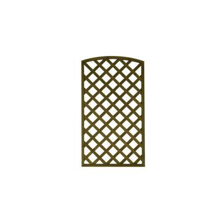 Aitaelementti Sateenkaari 900x1600 mm vinoristikko, vihreä