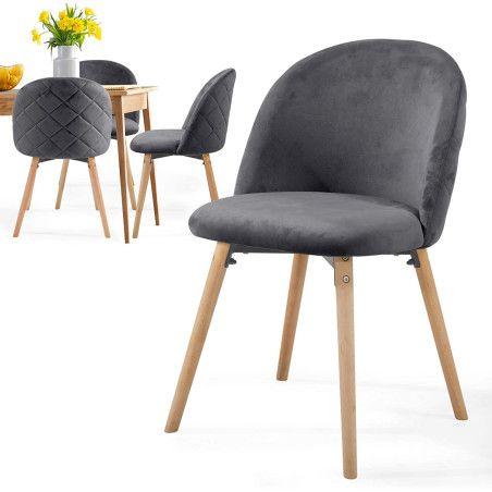 Ruokapöydän tuolit Sametti, 4kpl Useita eri värejä