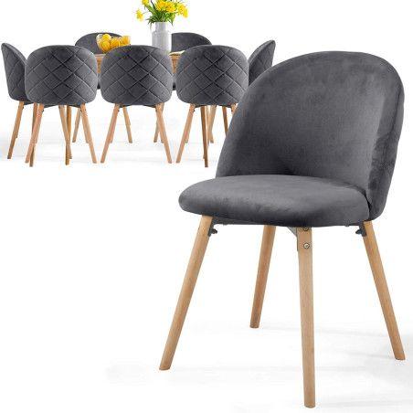 Ruokapöydän tuolit Sametti, 8kpl Useita eri värejä