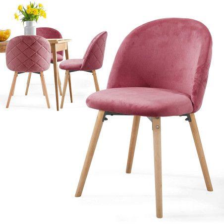 Ruokapöydän tuolit Sametti, 4kpl Punainen