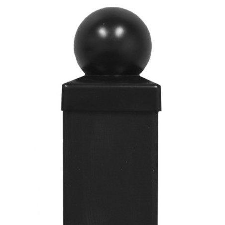 Tolpanhattu koristekuulalla, galvanoitu, musta, 4 eri kokoa