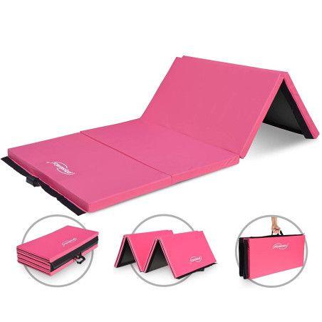 Kokoontaitettava voimistelumatto 300x120, Pinkki/Musta