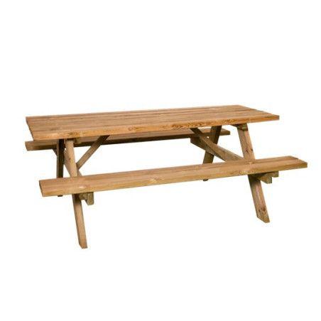 HORTUS Pöytä-penkkisetti, 177x155x70cm, painekyllästetty