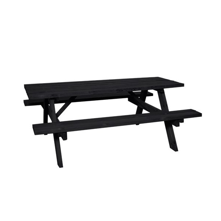HORTUS Pöytä-penkkisetti, 177x155x70cm, musta