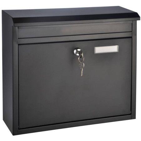 Metallinen postilaatikko, jauhemaalattu
