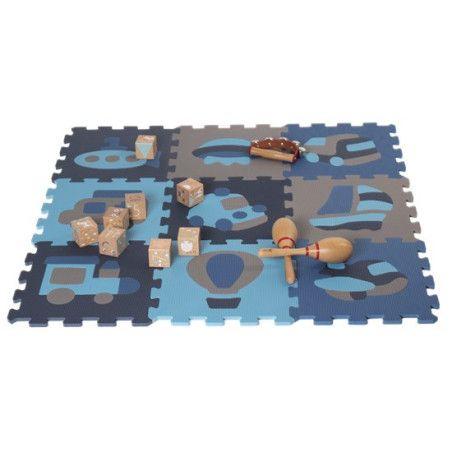 Leikkimatto-palapeli pinkki tai sininen NORDIC PLAY, 9 kpl