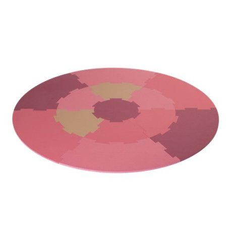 Leikkimatto-palapeli pyöreä pinkki tai sininen NORDIC PLAY, 13 kpl