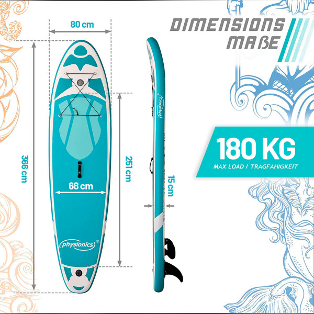 Poseidon SUP-lauta 366, mintun vihreä