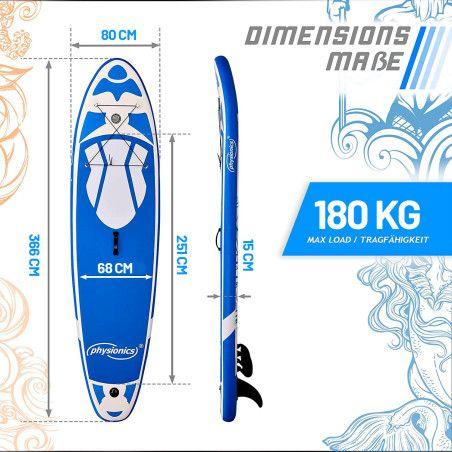Poseidon SUP-lauta 366, sininen