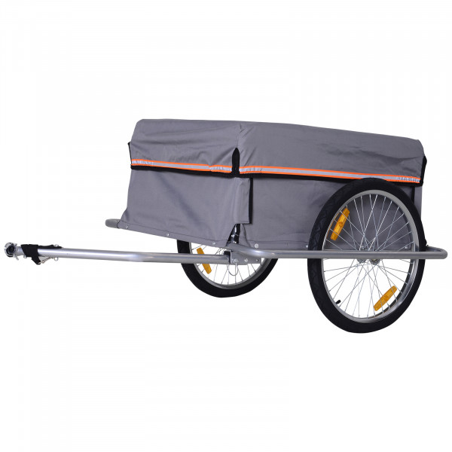 Pyöräilykärry (harmaa)