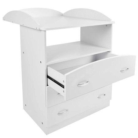 Hoitopöytä 3 laatikolla, valkoinen