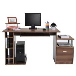 Tietokonepöytä (ruskea)