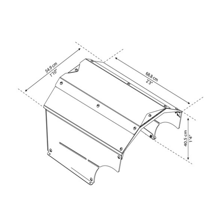 PALRAM Robottileikkurin talli 34x57.6x63.2 cm
