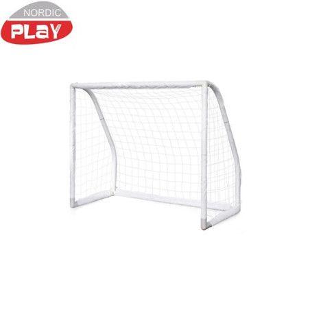 Jalkapallomaali Pro 135x165x76cm, valkoinen, muovi