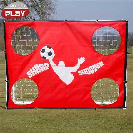 Jalkapallomaali Pro, 135x165x76cm, tarkkuusseinällä