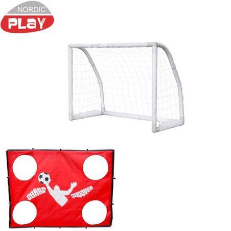 Jalkapallomaali Soccer, 100x130x76cm, tarkkuusseinällä