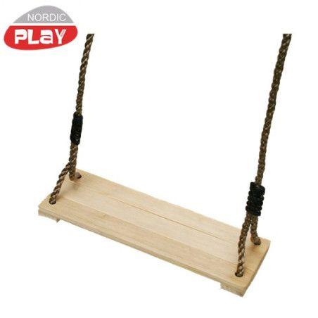 Keinuistuin köydellä, puinen, NORDIC PLAY