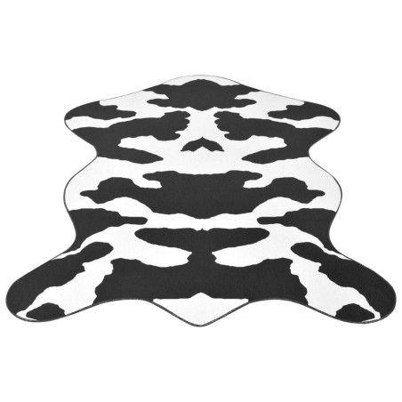 Muotoiltu matto 150x220 cm Musta Lehmäkuvio