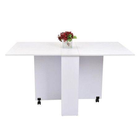 Kokoontaitettava pöytä (valkoinen)