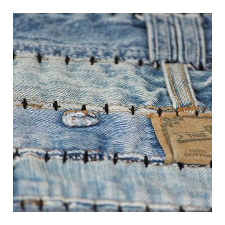 Tilkkumatto farkkujen vyötärönauhoista 160x230 cm