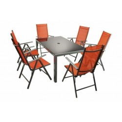 Alumiininen pöytä + 6...