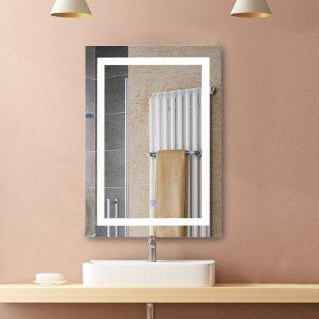 Kylpyhuoneen peili LED-valoilla 60 x 80cm