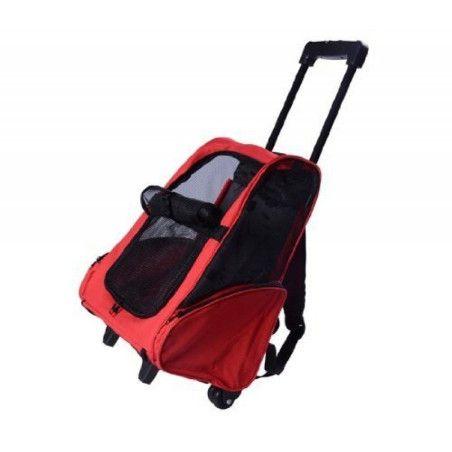 Koiran 2 in 1 kuljetuskassi (punainen)