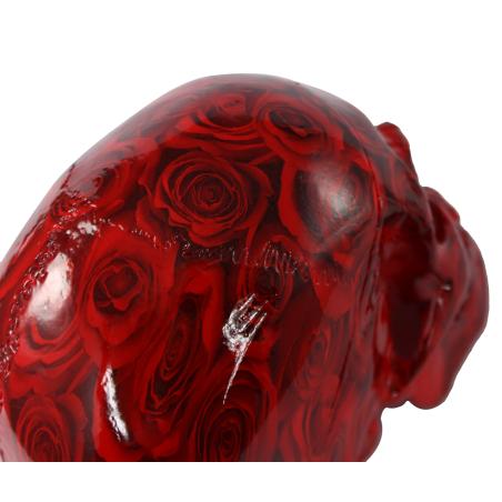 Koristepääkallo ruusukuviolla (Tumman punainen)