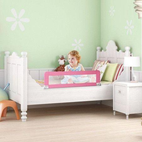 Lasten turvalaita sänkyyn 102 cm (pinkki)
