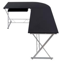 Kulmatietokonepöytä 2 musta