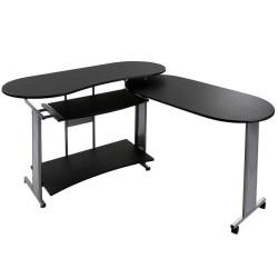 Kulmatietokonepöytä 1 musta