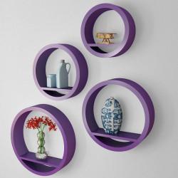 Ympyrähylly 4kpl, violetti